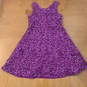 Purple sequin party dress - girls